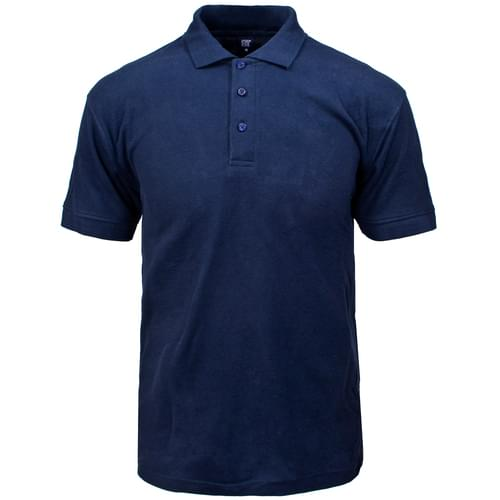 Classic - Polo Shirt Navy Blue - 200gsm Poly Cotton DT - Medium