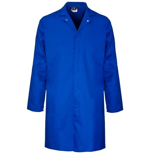 Food coat polycotton 245gsm with inside pocket - Royal blue - Small