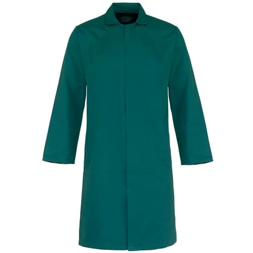 Food coat polycotton 245gsm with inside pocket - Kelly Green - X Large