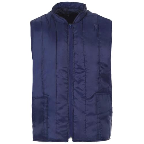 Quilted Bodywarmer-N/Blue-210T-V/Stich-Zip-2 S/Pock-180G Pad-190T Lin-4XL