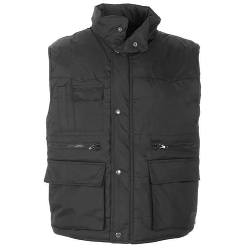 Multi pockets Body Warmer Black - 2XL