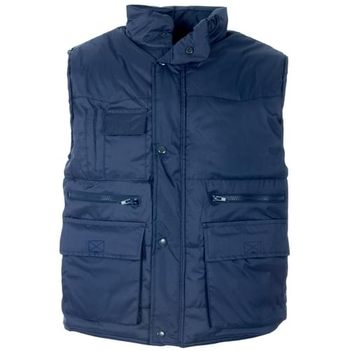 Multi pockets Body Warmer Navy blue L
