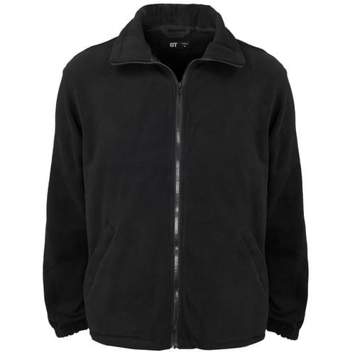 Micro Fleece Full Zip 300g 100% Poly Black Men - XL