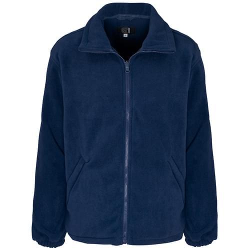 Micro Fleece Full Zip 300g 100% Poly Navy Blue Men - M