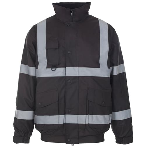 Security Bomber Jacket with Tape - Navy - 2Xlarge