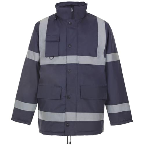 Security Parka Jacket with Tape - Navy - 3Xlarge