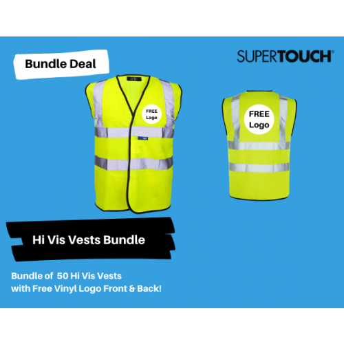 50  Hi Vis Vests with Your Logo  Bundle Deal