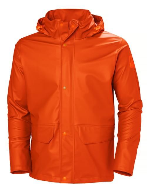 Helly Hansen Workwear GALE RAIN JACKET 290 DARK ORANGE Size XS