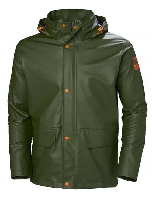 Helly Hansen Workwear GALE RAIN JACKET 480 ARMY GREEN Size XL