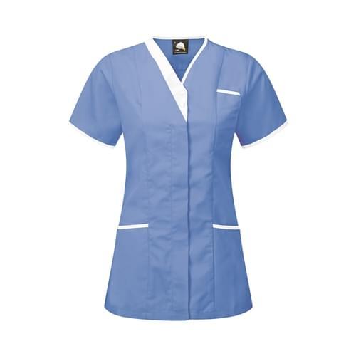 Orn Tonia V-Neck Tunic Hospital Blue / White Size 22