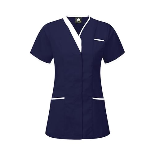 Orn Tonia V-Neck Tunic Navy / White Size 30