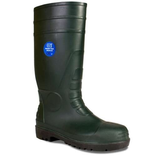 ST Muddy Plus Green - size 11 - S5 SRA steel toe + midsole