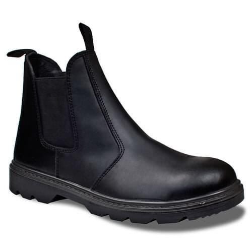 Dealer Boot Black Grain Leather S1P Standard Size-9