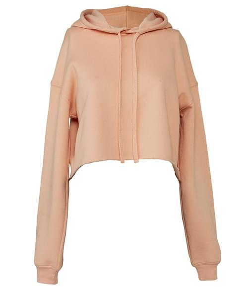 Bella Cropped Hoodie Peach Size S