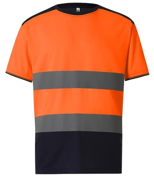 Yoko Two Tone T-Shirt Orange/navy Size 3XL