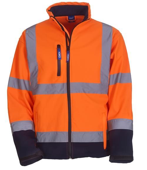 Yoko Softshell Jacket Orange/navy Size XXL