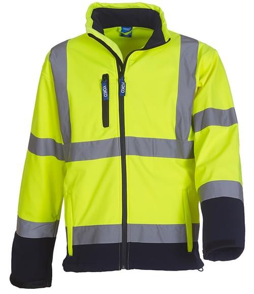Yoko Softshell Jacket Yellow/navy Size XL