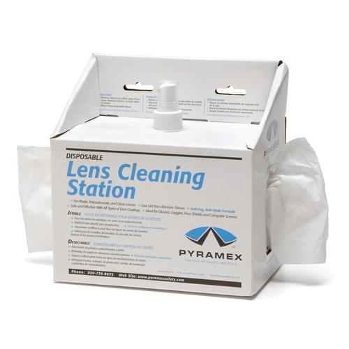 LENS CLEANING STATION - 600 TISSUES 8OZ SOLUTION **MTO**