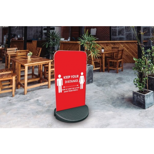 Social Distance Pavement Sign ECO FLEX