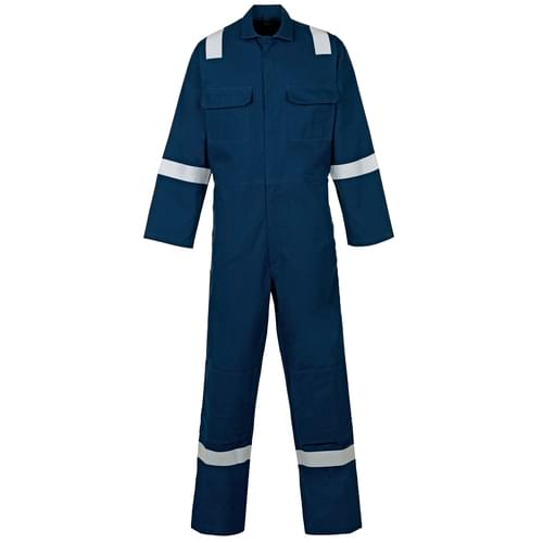 Weld-Tex Std FR Coverall with Tape Navy Blue - 330gsm - 3Xlarge