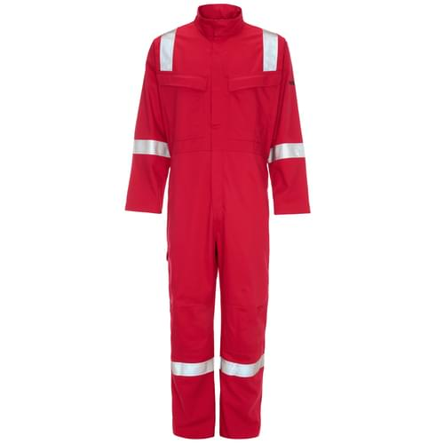 Weld-Tex Std FR Coverall with Tape Red - 350gsm - 4Xlarge