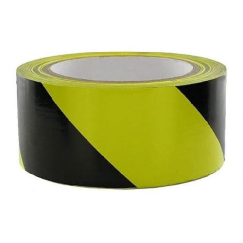 Yellow & Black Hazard Tape 48mm x 66m