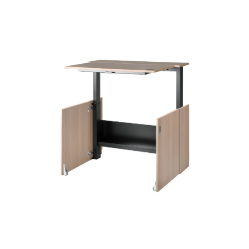 Nomique HomeFit Ergonomic Sit / Stand Desk 1050mm, Oak body, oak desktop
