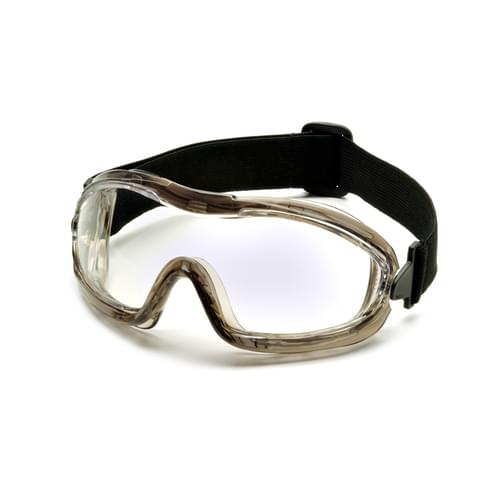 LOW PROFILE GOGGLE CLEAR LENS ANTI-FOG -GREY FRAME **MTO**