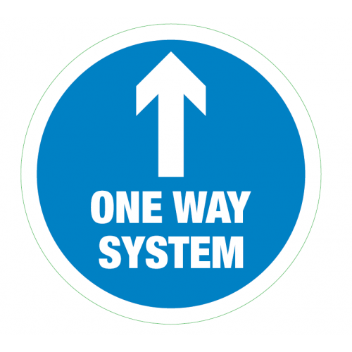 One Way System Floor Sticker 235mm Circular (5 Pack)