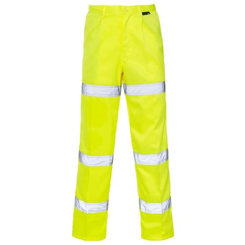 HV Yellow P C Trouser 3 Band Long - W50