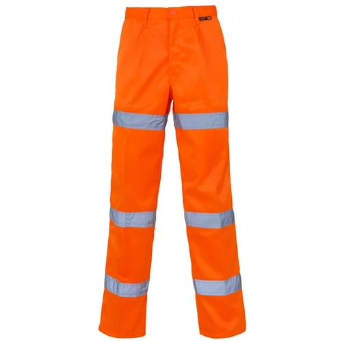 HV Orange P C Trouser 3 Band Long - W38