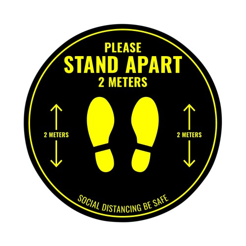 Social Distance Floor Sticker 400mm Circular (Pack of 5)