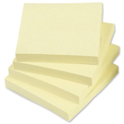 REPOSITIONAL STICKY NOTES 100SHT 75MMX75MM