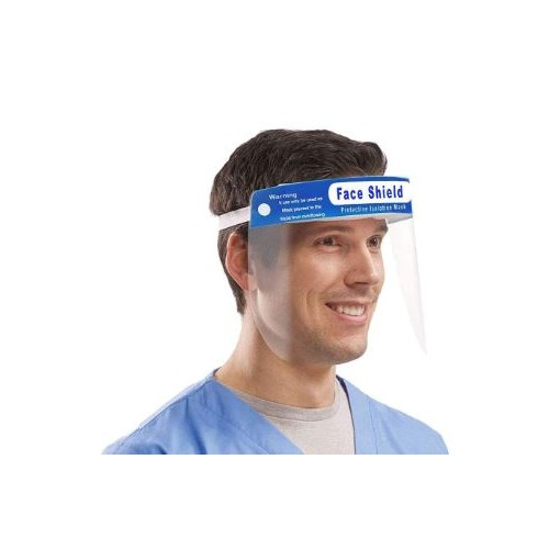 Face Shield Transparent Adjustable Face Guards, Padded at Forehead Packed 5's