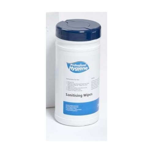 SW1 Sanitising Wipes Tub 200 Sheets