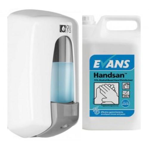 Hand Sanitiser/Soap Dispenser with 5 Litre Tub Hand Sanitiser