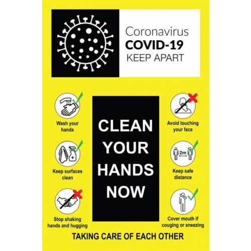 Clean Your Hands Now - Decal 400x600mm