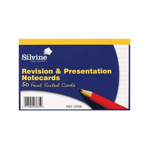 Revision Cards 6x4 White 50s Bx20