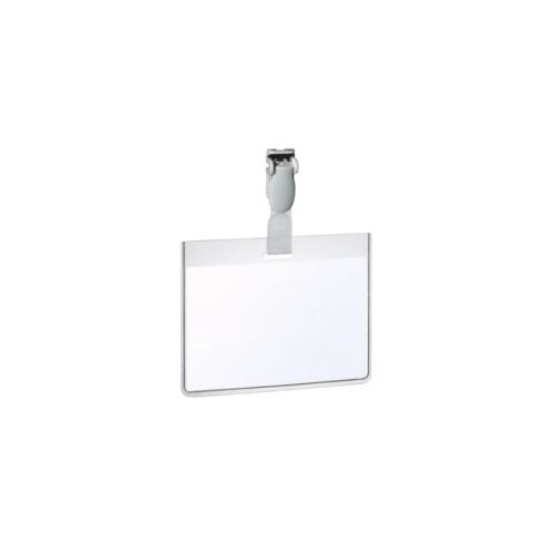 Security Name Badge LS 60x90mm clr Bx25