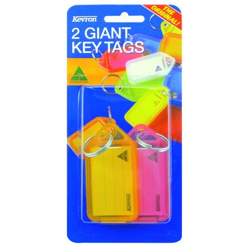 Kevron Giant Clicktags 74x38mm Card2 Bx10