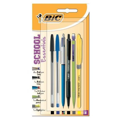 Bic Pens Assorted carded 6s