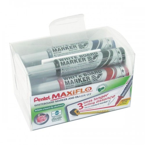 Maxiflo Wbrd Marker and Eraser Set