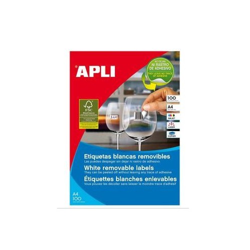 Apli Inkjet Labels Removable 55up