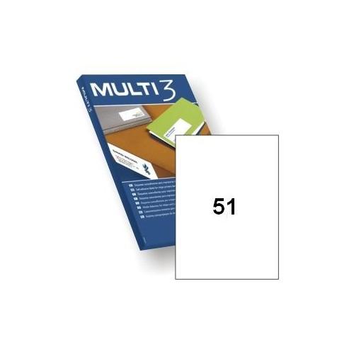 Multi3 Laser/Inkjet Labs 51up Bx100