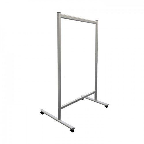 Mobile Acrylic Glass Partition Wall 120x150cm