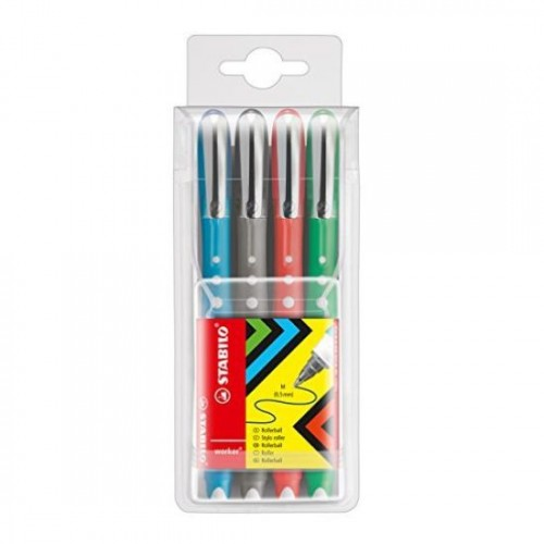 Worker Colorful Rball 0.5mm Ast Pk4