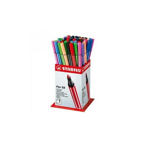 Stabilo 68 Fibre-Tip Pen Disp 60pcs