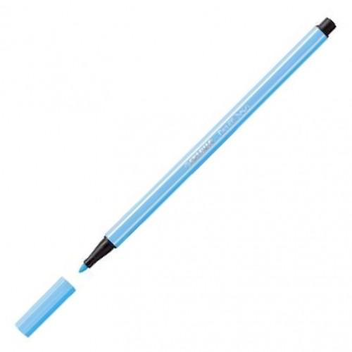 Stabilo 68/031 Fibre-Tip Pen Fluo blue Bx10
