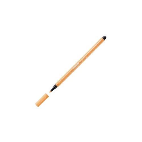 Stabilo 68/054 Fibre-Tip Pen Fluo orange Bx10