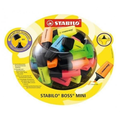 Stabilo Boss Mini Highlighter 50 pcs Bonbon display
